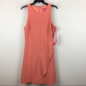 Betsy Johnson Peach Front Layered Dress
